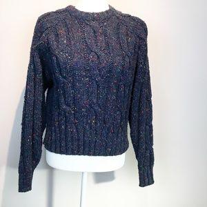 Vintage Liz wear cable knit sweater